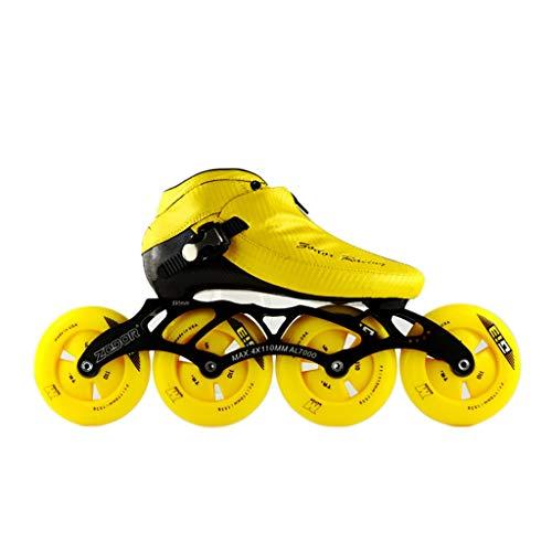 憲法敵対的酸っぱいNUBAOgy インラインスケート、90-110ミリメートル直径の高弾性PUホイール、3色で利用可能な子供のための調整可能なインラインスケート (色 : 黒, サイズ さいず : 40)