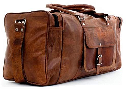 - CraftShades Handmade Duffel Bag Vintage Leather Travel Gym Overnight Weekend Sports Cabin Bag