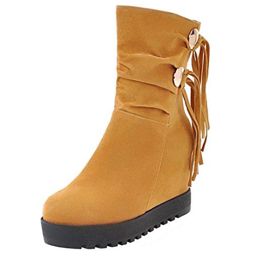 Classic WoMen WoMen AIYOUMEI Classic WoMen Yellow AIYOUMEI Boot AIYOUMEI Boot Yellow Classic UgHwUqaA8X