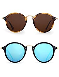 Polarized Sunglasses Mirror Tinted Circle Benefits