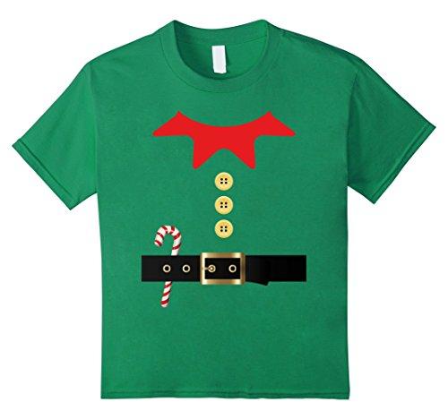 Kids Elf Costume Holiday Christmas T-Shirt Unisex Xmas - Upgrade 12 Kelly (Elf Costume T Shirt)