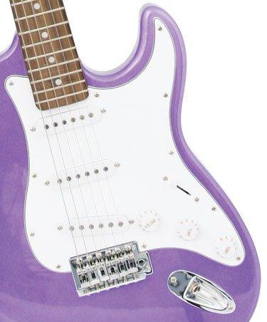 Crescent EG-PUM 39″ Electric Guitar Starter Package – Purple Color (Includes Bonus CrescentTM Digital E-Tuner)