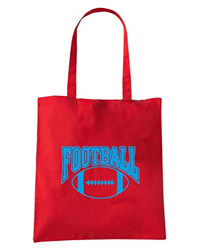 T-Shirtshock - Bolsa para la compra WC1219 American Football Rugby Maglietta2 Rojo