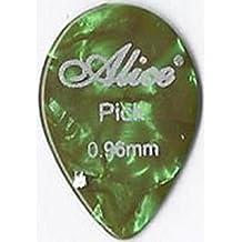 Alice 12 x CELLULOID GUITAR PICKS plectrums AP600A small teardrop MEDIUM HEAVY gauge 0.96MM