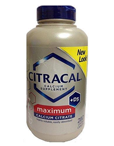 Citracal with Vitamin D3, Maximum Calcium Citrate 630 mg, 280 Caplets
