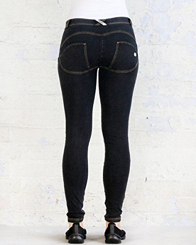 para Denim Mujer Jeans wrup Skinny Freddy Snug Schwarz 1wxSHqwBR