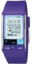 Casio Women's LDF52-6A Purple Resin Quartz Watch with Digital Dial