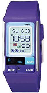 Casio Womens LDF52-6A Purple Resin Quartz Watch with Digital Dial