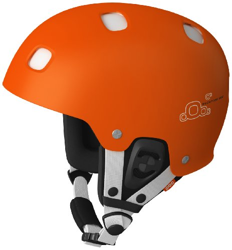 POC Receptor BUG Adjustable Helmet (Orange/White, Medium - Large/55-58) by POC