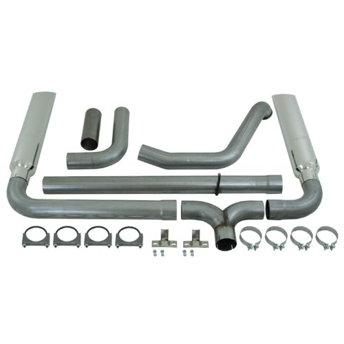 Mbrp Smokers Stack - MBRP S9200AL SMOKERS Aluminized Turbo Back Exhaust System