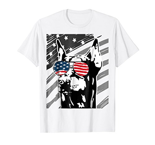 Doberman Pinscher Dog Breed - Doberman Pinscher Dog Breed 4th of July Dobermann T-Shirt