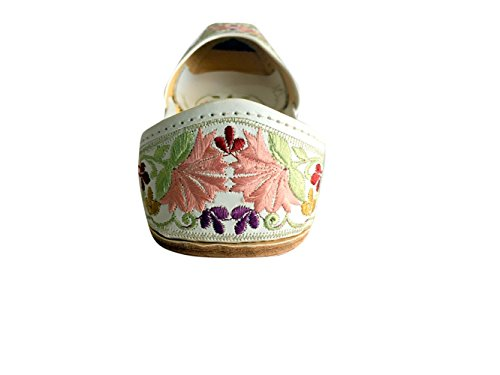 Scarpe Piatte Stile Khussa In Pelle N Stile Step Multicolore