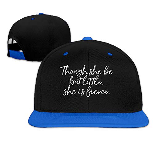 Puyiyua Rock Punk Baseball Cap Though She Be But Little, She is Fierce Shakes Unisex Trucker Hat Hip-hop Snapback Blue