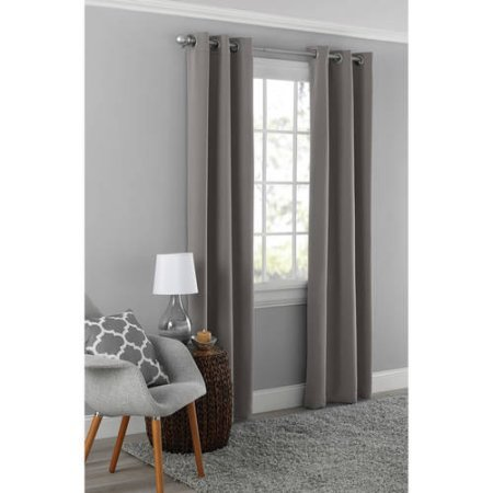 Mainstays Blackout Energy Efficient Grommet Curtain Panel 40