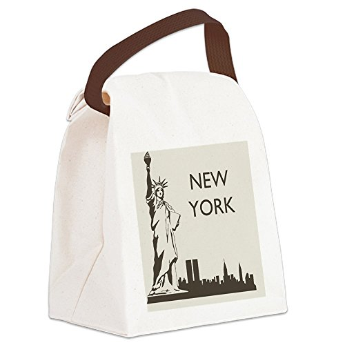 CafePress - Retro New York Canvas Lunch Bag - Canvas Lunch Bag with Strap Handle