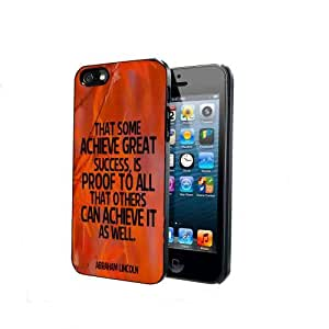 Success Abraham Lincoln Quote Orange iPhone 5 5s Back Case