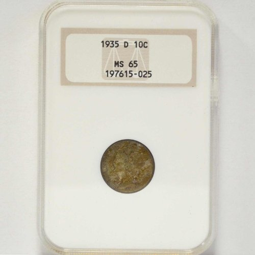 1935 D Mercury Dime NGC MS-65