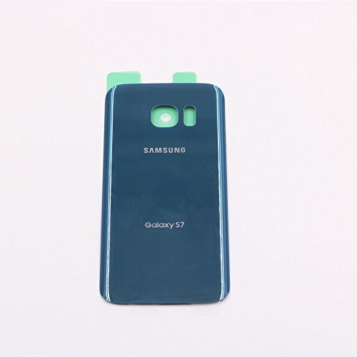 For Samsung Galaxy S7 OEM Rear Housing Back Case Battery Door Cover with Adhesive Pre-installed (Coral Blue) (Cover Rear Battery)