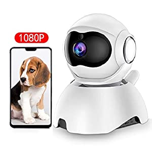 DEYAN pet Camera, 1080P Dog Camera, WiFi pet Monitor, Indoor cat Camera HD Night Vision 2-Way Audio, Motion Tracking and Sound Detection, with Intelligent pan/tilt/Zoom Function