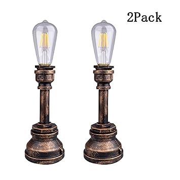 Amazon.com: guorzom Retro estilo Industrial lámpara de ...