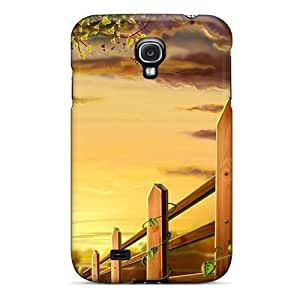 MeSusges EfFxLsY4155iihRx Protective Case For Galaxy S4(fence Illustration)