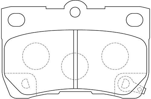 NiBK PN1494 – Noise-Free, Dust-less , Rotor Friendly Premium Ceramic Brake Pads