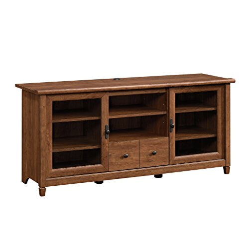 Sauder 418978 Edge Water Entertainment Credenza, For TV s up to 55 , Auburn Cherry finish