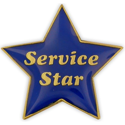 Service Star Pin (PinMart's Service Star Blue and Gold Customer Service Lapel Pin)
