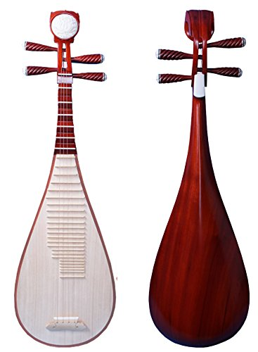 OrientalMusicSanctuary Scented Rosewood Pipa 花梨清水琵琶 - Chinese Lute BIWA for Performers by OrientalMusicSanctuary