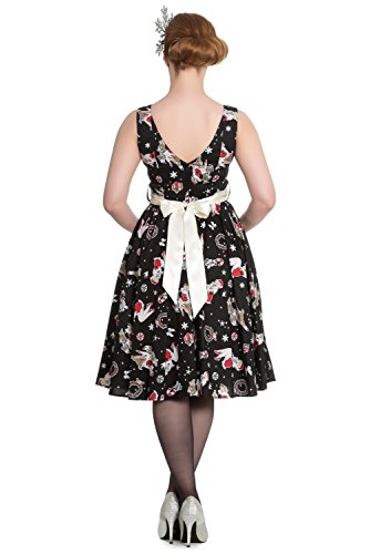 Bunny DRESS 50'S Hell Kleid BLITZEN 4621 Black AwagqSdp