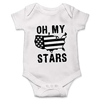 Amazon.com: Lucky Star 4Th of July Onesie, Baby