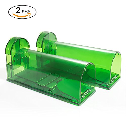 Catcha 2 Piece Humane Smart Mouse Trap Live Catch and Release Rodents, Safe Around Children and Pets ()