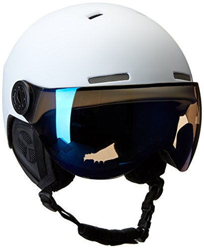 Crevice casque de ski-noir - Blanc/Bleu
