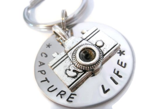 - Moonstone Creations Capture Life Keychain with Camera Charm