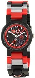 LEGO Kids' 9005527 Star Wars Darth Maul Minifigure Plastic Watch with Link Bracelet