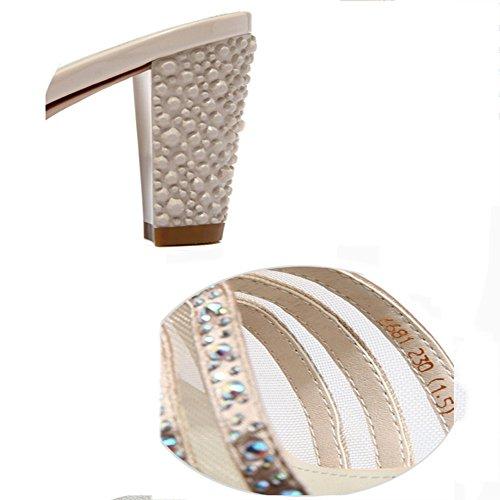 cn36 E Eu36 Oro Metà Zhangrong Sandali colore Portare Oro Fitta Ciabatte Pantofole Tacco Estivi A Estate Femminile Con Dimensioni uk4 YgafwqAU
