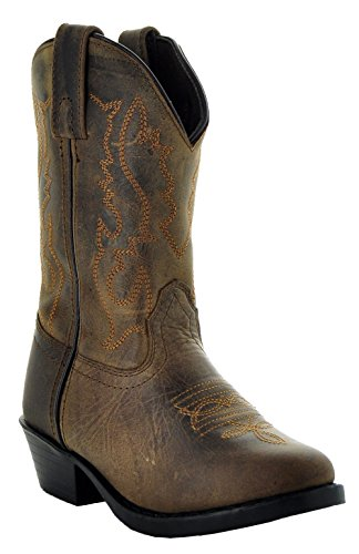 - Soto Boots Buckaroo Kids' Western Boots K3001 (12 M Little Kid, Brown)