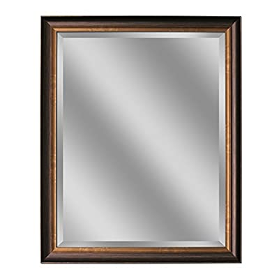 """Head West Oil Rubbed Bronze Mirror, 26 by 32-Inch - This mirror is 22"""" x 28"""" The outside dimension is 26"""" x 32"""" Made in USA - bathroom-mirrors, bathroom-accessories, bathroom - 41kMu1NPo0L. SS400  -"""