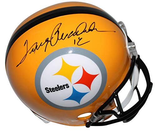Steelers Terry Bradshaw Autographed Signed Full Size Yellow Rep Helmet Memorabilia JSA #Q63673