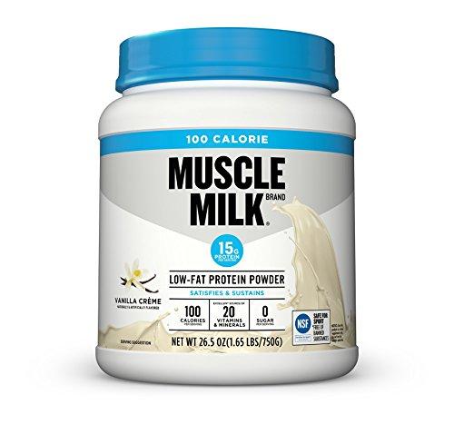 Muscle Milk 100 Calorie Protein Powder, Vanilla Crème, 15g Protein, 1.65 Pound - Cytosport Muscle Milk Powder Vanilla Creme