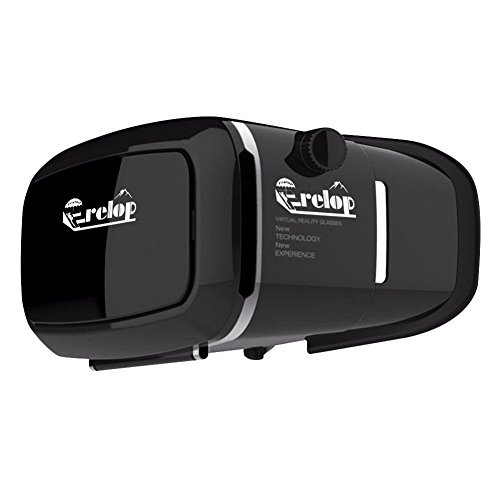 VICTONY Frelop VR Headset Virtual Reality Mobile Phone 3D Movies for iPhone 6s/6 plus/6/5s/5c/5 Samsung Galaxy s5/s6/note4/note5 and Other 4.7-6.0 Cellphones+ FREE GIFT : Anti-blueray Glasses