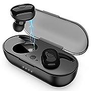 #LightningDeal Wireless Earbuds, Bluetooth 5.0 Wireless Headphones, in-Ear Sweat-Proof Stereo Wireless Earphones with Portable Charging Case, Mic