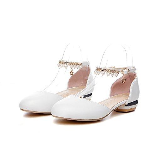 Sandales Femme Compensées EU ASL05438 5 36 Blanc Blanc BalaMasa 5qgT7HwtH