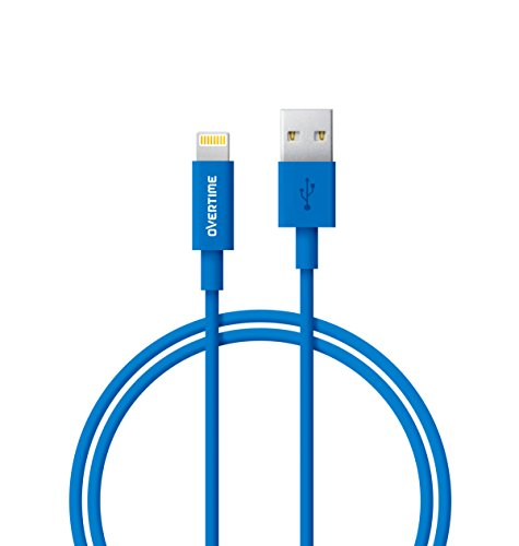 (Lightning to USB Cable 4 Ft - Apple MFi Certified, Rapid Charge and Data Sync Cable for, iPhone 7 6S 6 Plus, SE 5s 5c 5, iPad Air 2 Pro, iPad Mini 2 3 4, iPad 4th Generation - Blue)