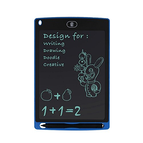 FENGRUI LCD Writing Tablet 8.5-Inch Drawing Board Gift for Kids Paperless Notepad Message Whiteboard Memo for Any Ages (Blue)