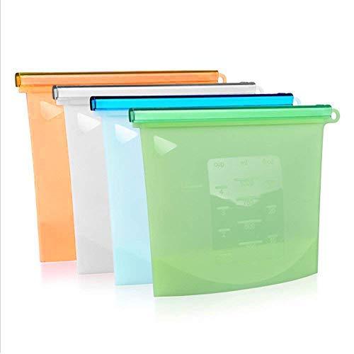 Reusable Silicone Food Bag Food Grade Vegetable Storage Bag Versatile Preservation Bag for Sandwich, Lunch, Snack, Freezer or Cooking
