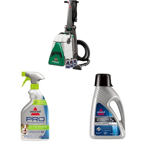 Bissell Big Green Professional Carpet Cleaner Machine, 86T3 with Oxy Stain Destroyer Pet Plus Pretreat, 1773, 22 oz and Deep Clean Pro 2X Deep Cleaning Concentrated Carpet Shampoo, 48 ounces by Bissell