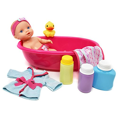 Super Cute Baby Doll Bathtub Set Featuring 10