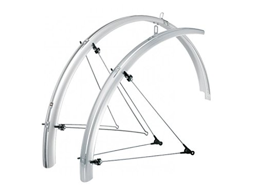 SKS B60 Commuter 2 Bicycle Fender Set (Silver, Fits Tire Sizes 26 x 1.6 ) (Fenders Bike Commuter)