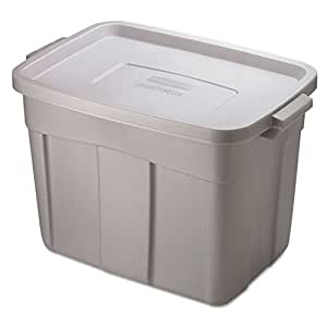 Rubbermaid Storage Tote, 18-Gallon, Grey